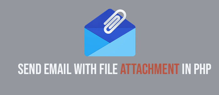 Send Email with file in php