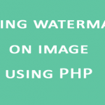 adding watermark on image using PHP