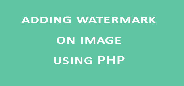 adding watermark on image using PHP